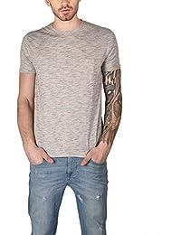 The Glu Affair Men's Stone White Cotton Round Neck T-shirt
