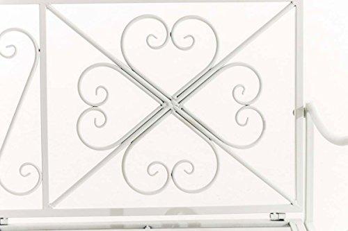 CLP Garten-Bank, 2er Schaukelstuhl SILLY, Eisen lackiert, Design nostalgisch antik, ca 120 x 45, Höhe 95 cm Weiß - 4