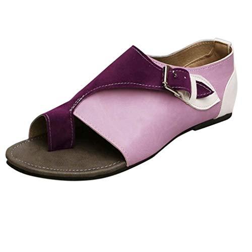 Masoness Mode Frauen Sommer Römischen Stil Lässig Peep Toe Farbblock Bequeme Flache Schnalle Sandalen