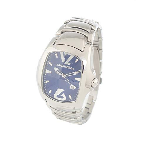 Chronotech orologio analogico quarzo uomo con cinturino in acciaio inox ct7896m-03m