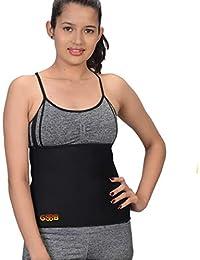 GSSB Sweat Slim Belt for Women's Men's (Black; Free Size)