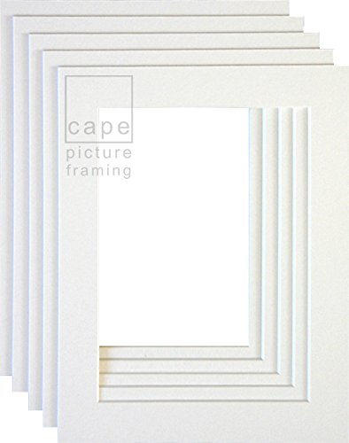 pack-of-10-picture-mounts-a4-overall-size-with-equal-35mm-borders-bright-white