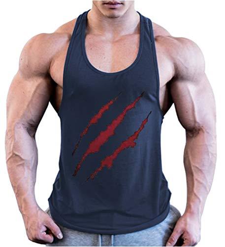HOTCAT Chaleco para Hombres Deportivo Camiseta Sin Mangas de Tirante Capucha Gimnasio Músculo Formación Túnica Fitness Tank Top