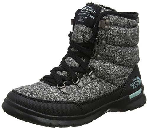 THE NORTH FACE Damen Thermoball Lace Ii Schneestiefel, Grau (Burnished Houndstooth Print/Blue Haze 5qp), 38 EU