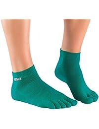 Knitido Track & Trail Ultralite Fresh Seasons   kurze Zehensocken für Sport und Freizeit, geeignet für Zehenschuhe, einfarbig in 7 Farben, für Damen und Herren (unisex), aus Baumwolle (39%) und kühlender Coolmax®-Faser, Größe:39-42;Farbe:Petrol