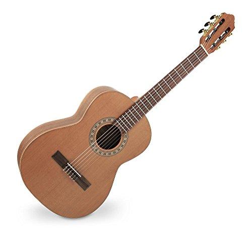 Harmonie Boden (Classic Cantabile AS-1000M 3/4 Konzertgitarre (Halsbreite: 45,5 mm, Mensur: 57 cm, Decke aus massiver Zeder, Boden und Zarge aus Walnuss) Natur)