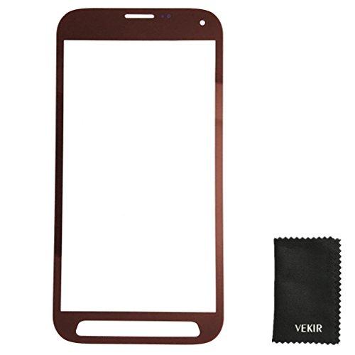 Glasobjektiv Screen Ersatz Kompatibel mit Samsung Galaxy S5 Sport G860P (rot) VEKIR Retail Verpackung (S5 Sport-ersatz-glas Galaxy)
