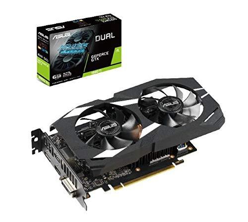 ASUS Dual -GTX1660TI-6G GeForce GTX 1660 Ti 6 GB GDDR6 - Tarjeta gráfica (GeForce GTX 1660 Ti, 6 GB, GDDR6, 192 bit, 7680 x 4320 Pixeles, PCI Express