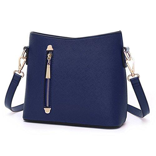 Sacchetti di mini studente dell'atmosfera, borsa a tracolla semplice della singola coreana di estate ( Colore : Grigio ) Blu zaffiro