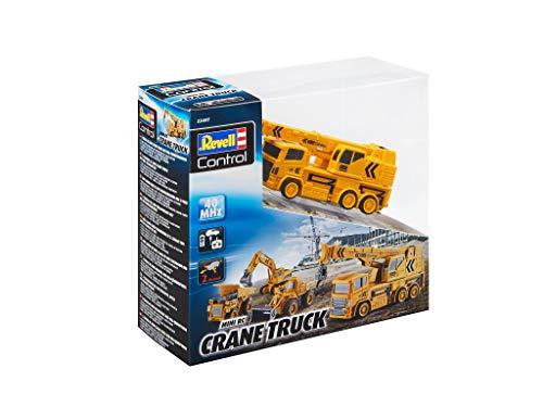 RC Auto kaufen Baufahrzeug Bild 2: Revell Control 23497 RC Baufahrzeug Kranwagen, 40MHz, Akku ferngesteuertes Auto, gelb-orange, 12,5 cm*