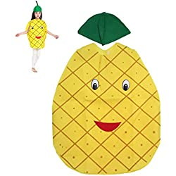 LUOEM Traje de verduras de frutas de los niños Traje de ropa de fiesta de piña niños para Halloween Cosplay Trajes de Halloween de vacaciones de Navidad