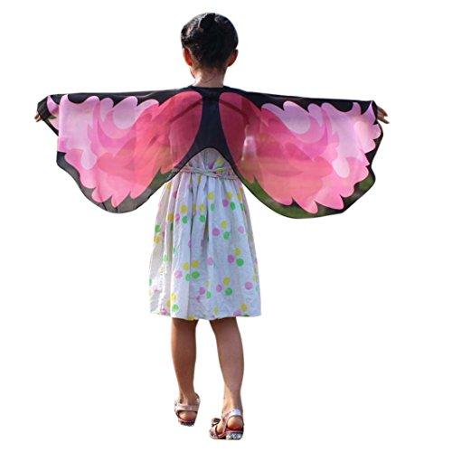 Faschingskostüme Schmetterling Schal Mädchen Karneval Kostüm Schmetterlingsflügel feenhafte -