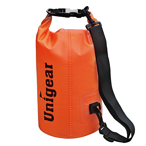 Unigear Dry Bag, Waterproof Floating Gear Bags for Boating, Kayaking, Fishing, Rafting, Swimming, Camping And Snowboarding (Orange, 40L)
