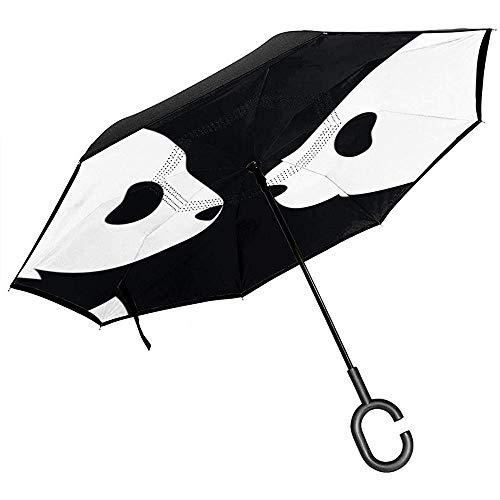 Little yi ombrello invertito orsi neri asiatici, ombrello reversibile auto anti-uv sole grande pioggia all'aperto con a forma di c