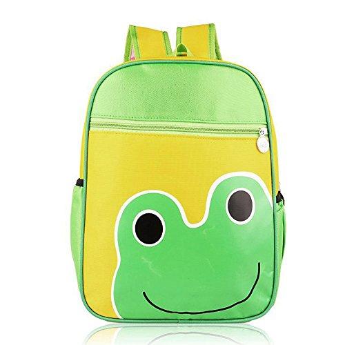 Cartoon Modello Bambini Bambino Nylon Impermeabile Piccolo Zainetto Scuola Borsa Zaino Frog