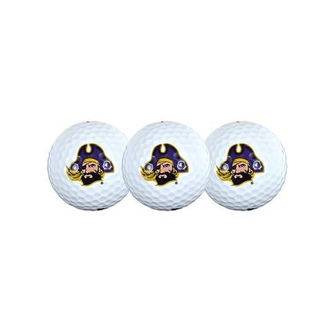 East Carolina Pirates Golf Ball Pack of 3