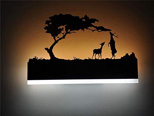 Noir Acrylique Créatif Moderne Led Applique Murale Pour Salon Côté De La Chambre Lampes De Chambre LED Applique Salle De Bains Mur Lampe LED Lustres