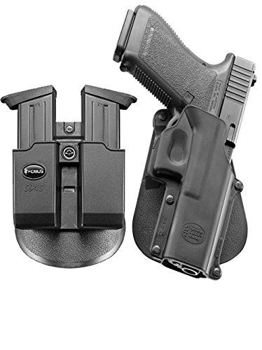 Fobus neu Pack GL-3 verdeckte Trage Pistolenhalfter Halfter Holster + Doppel-Magazintasche für Glock 20, 21, 21SF, 37, 41, ISSC M22 (Doppel-holster)