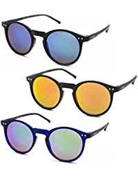 Stacle UV Protected Round Sunglasses Combo For Men and Women (ST7037 48 Multiple Colours)