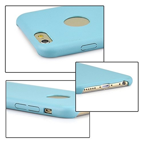 Phone case & Hülle Für iPhone 6 / 6s, 0.3mm Ultradünner PU-lederner rückseitiger Abdeckungs-schützender Fall ( Color : Blue ) Blue
