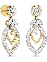 PC Jeweller The Farihah 18KT Yellow Gold & Diamond Earring