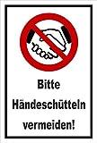 Melis Folienwerkstatt Aufkleber Schild Hände-schütteln