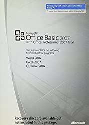 Microsoft Oem Office 2007 Basic Edition, 1 Pack, Medialess Kit (Inc. Office 2007 Professional Edition Trial) (Pc)