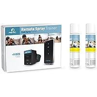 PetTec Spray Automático Anti Ladrido para Entrenar a Perros, con Señal Sonora, Control Inmediato, Seguro para Perros y Humanos + 2 Latas de Repuesto y Pilas Incluidas (Citronela)