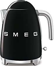 Smeg KLF03BLUK, 50's Retro Style Kettle, 1.7 L Capacity with Water Level Indicator, 360 Swivel Base, Anti-