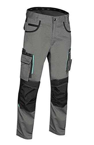 Elasticos REIS Pantalones de Seguridad Negros para Hombre Multibolsillos Pantal/ón de Trabajo Construccion