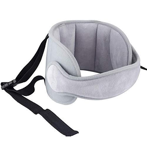 Luchild Bébé Support de Tête de Voiture Tête d'oreiller de sécurité bébé Réglable, Tête Fixation Holder Pour Enfants, Protéger Cou (gris)