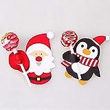 STOBOK 56pcs etichette natalizie caramelle lecca-lecca carte di carta biglietti messaggio decorazione confezione regalo per la festa di nozze display