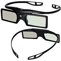 Lot de 2 lunette 3D Verres actifs détachables de volet de 144Hz 3D pour des projecteurs 3D de DLP-lien(disconvient à TV)