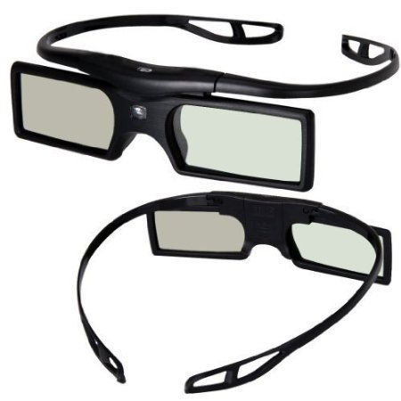 Signstek 2 Pack 2014 Newest Version Detachable 144Hz 3D Active Shutter Glasses for DLP-Lin
