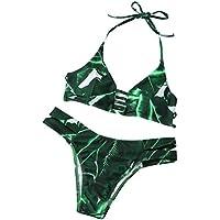 Maillots de bain femme , Transer Femmes sexy feuilles imprimées bikini ensemble push-up maillots de bain