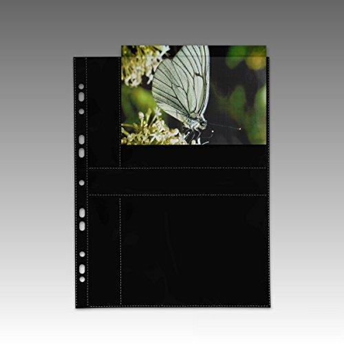 fotohuellen 13x18 100 Fotohüllen 77870 schwarz 13x18 cm Querformat für 2x2 Fotos