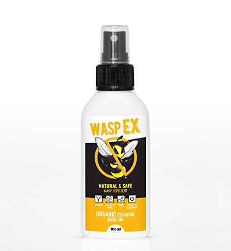 Wespenspray WaspEX | 100% Bio Wespenschutz mit Basilikumöl | Natürliche Alternative zu Wespenfalle oder Wespengift Spray | Effektive Wespenabwehr