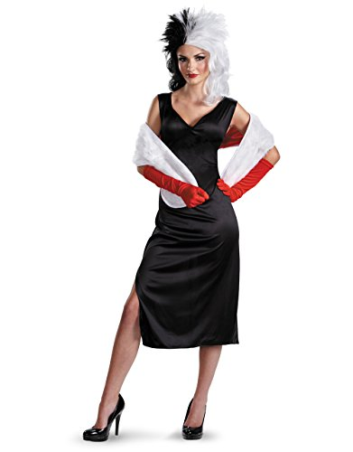 Cruella De Vil Costume, Womens 101 Dalmations Outfit, Large, (USA 12 - 14), BUST 38 - 40