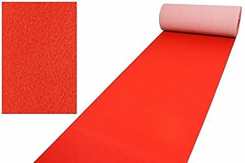 Roter Teppich VIP Läufer Event Teppich Premierenteppich Wunschlänge rot 1m, Länge:600 cm (Teppich Rot)