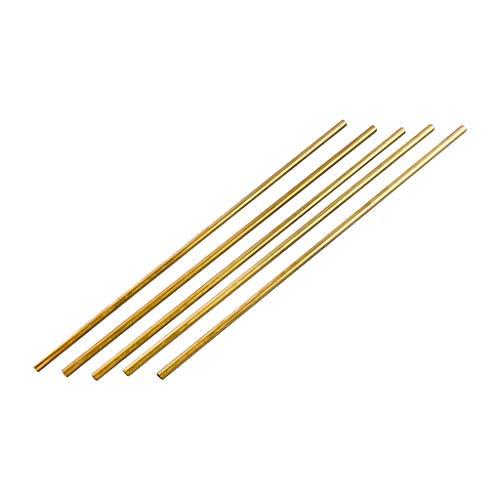 sharprepublic Präzisionsmetalle Messing Rundschaftrohr, Messingstangen Modellbaustoffe 300mm (5 Stücke) - B