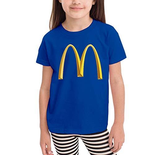 Kinder Jungen Mädchen Shirts McDonalds T Shirt Kurzarm T-Shirt Für Tollder Jungen Mädchen Baumwolle Sommer Kleidung Blau 3 T -