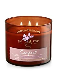 Bath & Body Works Aromatherapy Comfort Vanilla & Patchouli Candle 3 Wick 14. 5 oz. /411 g