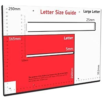Royal mail postal guide template for pricing in proportion amazon displaypro large royal mail letter guide postal template greyred spiritdancerdesigns Images