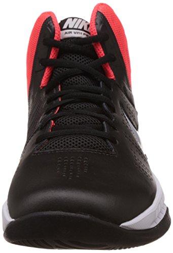 Nike Air Visi Pro Vi, espadrilles de basket-ball homme Multicolore - Negro / Blanco / Rojo (Blck / Mtlc Pltnm-Brght Crmsn-Un)