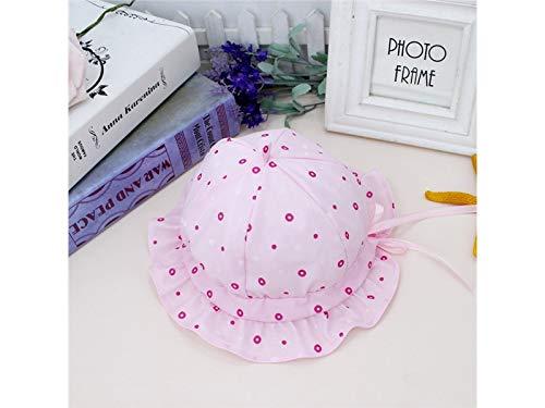 Young shinee Kinder Hut Baby Dot Packable Soft Bucket Cap Kleinkind Einstellbare Sonnenschutz Hut Sonnenblende für 0-8 Monate Kleinkind Mütze Packable Bucket