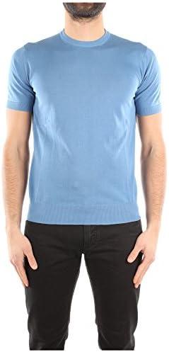 Camiseta Manga Larga Prada Hombre Algodón Celeste UMA174CELESTE Celeste 48