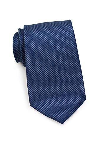 Puccini XXL Krawatte Herren, strukturiert, einfarbig, verschiedene Farben, Krawatte Überlänge, Satin-Glanz, Mikrofaser, 8,5 cm, Handarbeit, Dunkelblau, 160 cm lang, 8,5 cm breit Lange Krawatten
