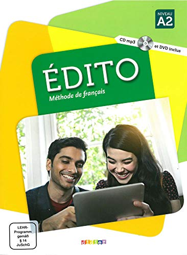 Édito A2: Livre élève + CD MP3 + DVD