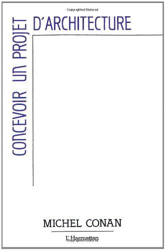 Concevoir un projet d'architecture: Convention CSTB/Plan construction nb0s 87 61 434