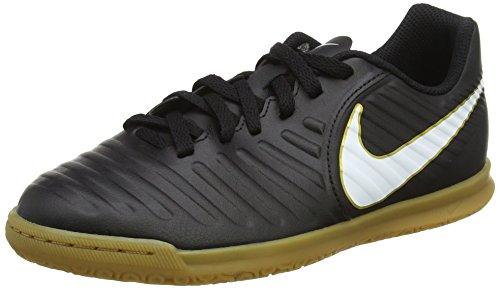 Nike Unisex-Kinder Jr. Tiempox Rio IV IC Fußballschuhe, Schwarz (Black/White Black), 37.5 EU (Schuhe Rio Schwarz)
